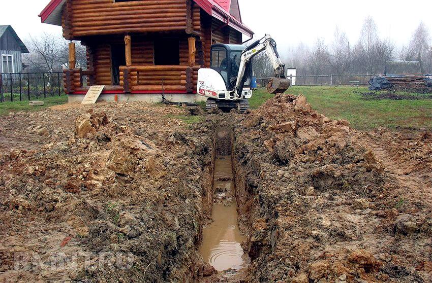 Подтопление участка подземными водами